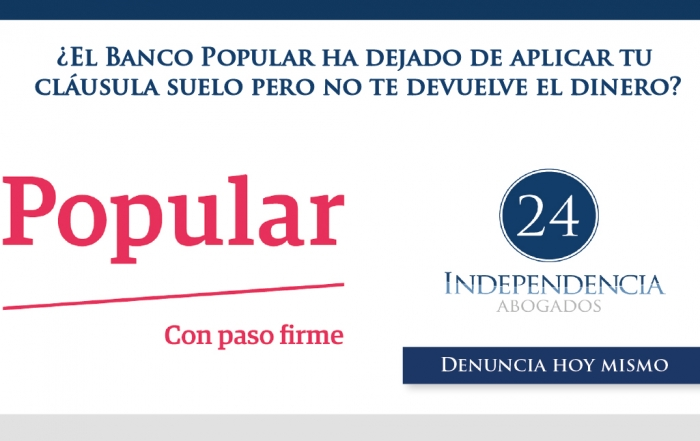 Inicio independencia 24 abogados en zaragoza for Acuerdo clausula suelo banco popular