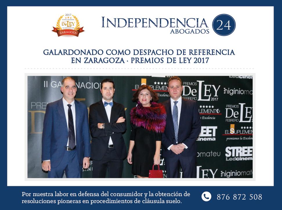 Premios de Ley Independencia 24